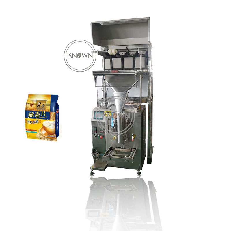 4 Head electronic weighing scale vertical automatic 1kg rice tea packaging granule packing machine